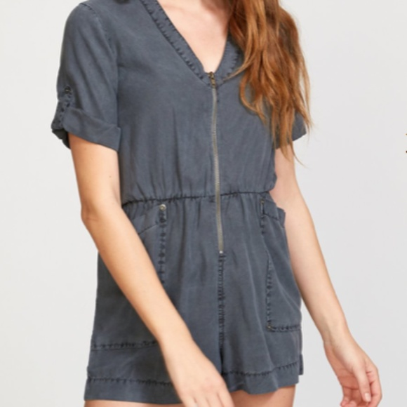 RVCA Pants - New RVCA Grey Short Romper with Pockets M